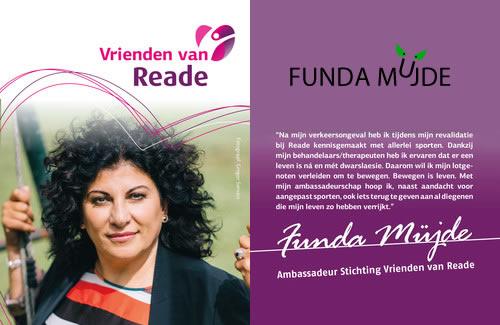 Funda ambassadeur van Vrienden van Reade